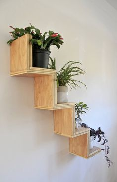 Zig Zag Display Shelf Zig Zag Display Shelf Naomi C Blankenship naomicblankenship wall shelves Add a little whimsy to any wall with the playful nbsp hellip regal palette Decoration Hall, Decoration Plante, Wood Wall Shelf, Wall Shelves, Plant Shelves, Display Shelves, Natural Home Decor, Diy Home Decor, Regal Display