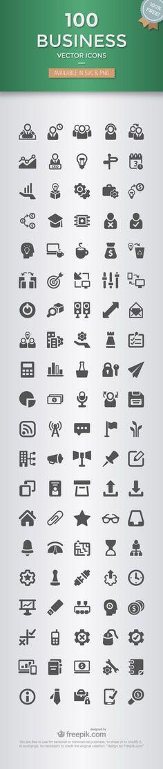 100 icônes « business » à télécharger gratuitement:
