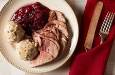 Roast venison with Bavarian dumplings. This recipe is best done with a young deer. Recipe on http://honest-food.net