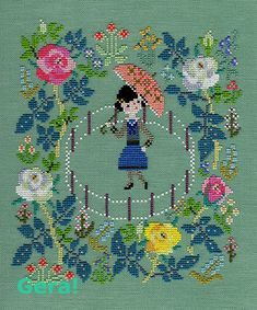 G tijdperk van de afbeelding Cross Stitch House, Cross Stitch Cards, Cross Stitching, Wool Embroidery, Ribbon Embroidery, Cross Stitch Embroidery, Everything Cross Stitch, Diy Perler Beads, Cross Stitch Collection