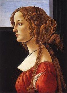 Portrait of Simonetta Vespucci, Sandro Botticelli.