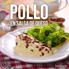 Video de Pollo en Salsa de Queso Prepare at home this delicious chicken in cheese sauce, a unique recipe that will get you out of trouble and make everyone amazed with its flavor. Tasty Videos, Food Videos, Easy Dinner Recipes, Easy Meals, Deli Food, Good Food, Yummy Food, Healthy Food, I Foods