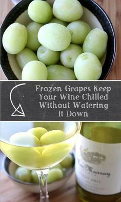 Chill your wine with frozen grapes.