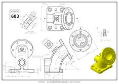 Mechanical Engineering Design, Mechanical Design, Autocad Isometric Drawing, Solidworks Tutorial, Autodesk Inventor, 3d Cad Models, Unity 3d, 3d Tutorial, Drawing Projects