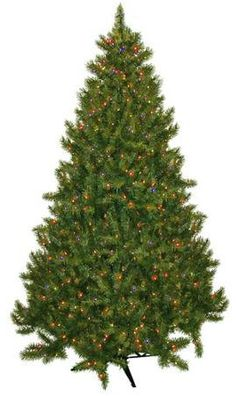 9. Vermont Fir Artificial Pre-Lit Christmas Tree