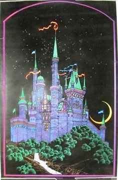 Vintage blacklight castle poster. I had this when i was a teenager.