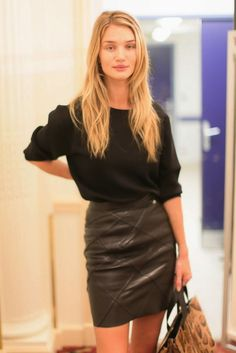 L is for Leather Skirts - Rosie Huntington-Whiteley #sstrenguide