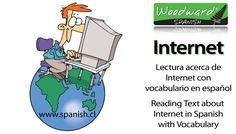 Lectura acerca de internet con vocabulario en español