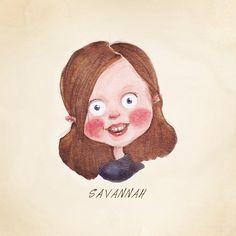 "Children's Custom Caricature Portrait. Child, Toddler or Baby. Fine Art Print. All sizes up till 8.5""x11"". Nursery Art. Great Gift Idea."