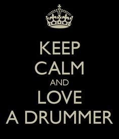 I love drums. . The best sound ♥ I always wanted and still want to learn how to play them.