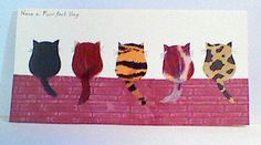 Cat card made using Stampin Up owl punch.