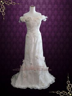 a31e00a81de Unique Vintage Style Lace Wedding Dress Retro Wedding Dress Retro Wedding  Dresses