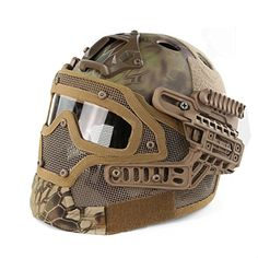 WoSporT New Airsoft and Paintball Tactical Protective Fasr Helmet I & ABS Tactical Mask with Goggle for Airsoft Paintball WarGame (Mandrake) -- Awesome products selected by Anna Churchill