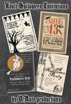 halloween party invitation for adults plus party ideas - Creative Halloween Party Invitations