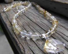 Genuine Citrine and Sterling Silver Gemstone and by irishbabies, $52.00