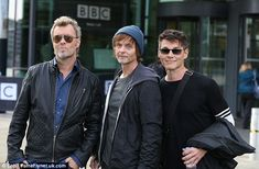 They're back: A-ha's (from left) Magne Furuholmen, Paul Waaktaar-Savoy and Morten Harket were pictured a BBC Breakfast on Wednesday morning after announcing they would reunite