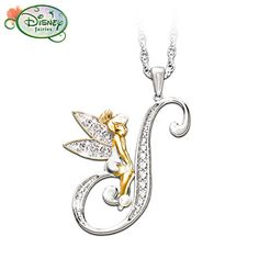#TinkerBell Initial Pendant #Necklace