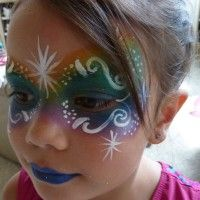 Starburst Face Painting - Inflatable Movie Screen Rentals in Colorado Springs, Colorado