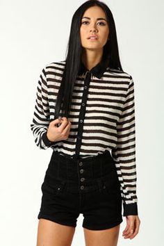 boohoo Elodie Black And White Stripe Chiffon Blouse A cute day top with a pair of sexy jeans will always be on trend. Choose printed tees for casual day tops, and remember that any print goes! Look out for cool details like crosses, hearts or studs for http://www.comparestoreprices.co.uk/blouses/boohoo-elodie-black-and-white-stripe-chiffon-blouse.asp