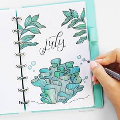 Find instant inspiration for the month covers in your bullet journal! All the ideas are just perfect for summer! capas 19 Monthly Cover Pages To Beautify Your Bullet Journal Bullet Journal Inspo, Bullet Journal Cover Page, Bullet Journal Ideas Pages, Bullet Journal Layout, Journal Covers, Journal Pages, Junk Journal, Bujo Inspiration, School Notebooks