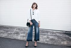 Look to Try: Denim Culottes