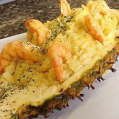 Nosso irresistível Risoto de camarão ao creme de curry, abacaxi e leite de coco! Perfeito!! #letoile #alacarte