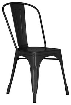"""Tolix """"A"""" Chair - black midcentury-dining-chairs"""