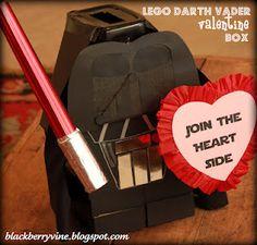 valentine box, blackberri, darth vader, school, valentin box