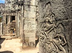 Amazing carvings on the columns in Angkor Thom (and all over the area but these seemed to be the best preserved #angkorwat #siemreap  #cambodia  #travel #travels #travellers #travelgram #travellingram #travelling #travellife #traveldiaries #travelblog #instatravel #worldtravellers #worldcaptures #exploretheworld #discoverearth #backpacker #backpackers #backpacking #backpackerslife #rtw #roundtheworld #roundtheworldtrip #travelaroundtheworld #wonderfulplaces #goexplore #neverstopexploring…
