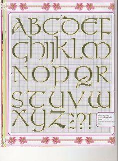 Cross stitch alphabet with a celtic feel кельтский алфавит вышивка крестиком