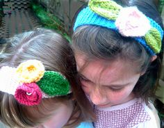 Ravelry: free pattern Flower Power Headband pattern by Libby Jonson
