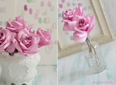 Coffee Filter Roses {DIY}  by Ellya at Curiosita Ellya