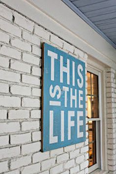 Beautiful Pool House Decorating Ideas On A Budget - Onechitecture Patio Signs, Pool Signs, Backyard Signs, Living Pool, Outdoor Living, Outdoor Decor, Outdoor Signs, Outdoor Ideas, Lake Signs