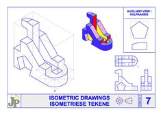 Mechanical Symbols, Civil Drawing, Orthographic Projection, Solid Geometry, One Point Perspective, Technical Drawing, Posters, Drawings, Poster
