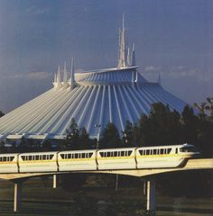 space mountain and monorail, seventies