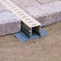 The Adjustable Height Paver Drain is a dual-elevation deck drain designed to be used in the installation of pavers deck. This drain accommodates both full-thickness paver bricks and the popular, thinn Backyard Projects, Outdoor Projects, Backyard Patio, Backyard Landscaping, Pavers Patio, Cement Patio, Paver Deck, Driveway Pavers, Outdoor Pavers