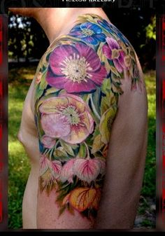 flower colours tattoo