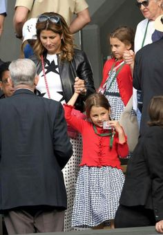 Roger and Mirka's twin girls