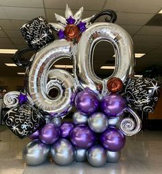 PC – Balloons with Helium 60th Birthday Balloons, 60th Birthday Party Decorations, 70th Birthday Parties, Themed Parties, Birthday Celebration, Balloon Arrangements, Balloon Centerpieces, Balloon Decorations Party, Balloon Columns