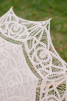 Edge of a lace parasol