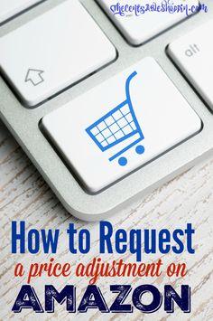 howto request amazon price change refund
