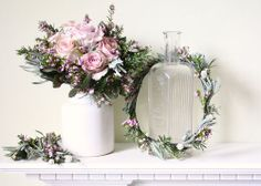 Sweet circlet of rosemary, lavender & heather.