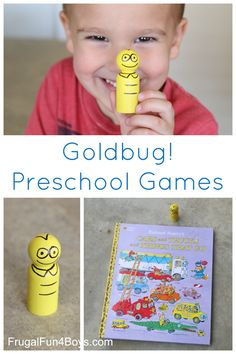 DIY Goldbug from Richard Scarry's Cars and Trucks and Things that Go!  Games to play with your very own Goldbug.
