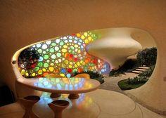 Javier Senosiain é um dos principais expoentes da Arquitetura Orgânica. Na foto Nautilus (2007), também conhecida como Casa Concha. Foto: Divulgação