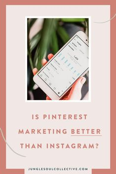 Is Pinterest marketing better than Instagram marketing? Read the article to get clarity on which platform you should include in your small business marketing strategy. #pinterestmarketing #pinterestvsinstagram #junglesoulcollective #digitalmarketing Marketing Articles, Marketing Goals, Small Business Marketing, Creating A Business Plan, How To Get Clients, Pinterest For Business, Instagram Tips, Pinterest Marketing, Coaches