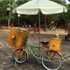 Food bike cargueira com baú frontal e traseiro