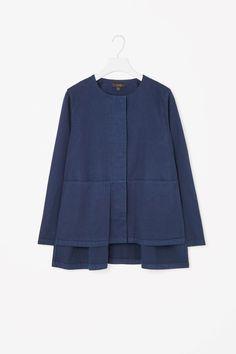 Split-side cotton blazer