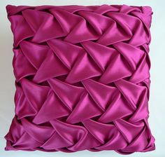 Square Pink Smocked Cushion at Christopher Daniel. See our range of fabulous cushions. Crazy Quilting, Smocking Patterns, Sewing Patterns, Pillow Patterns, Bed Cover Design, Fabric Manipulation Techniques, Canadian Smocking, Felt Pillow, Diy Step By Step