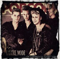Depeche Mode so cool even back then, 1980's:  Dave Gahan, Martin Gore, Andy Fletcher, Alan Wilder