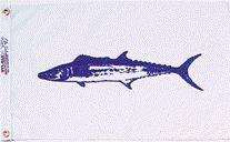 King Mackerel Fish Flag - Nylon - 12x18""